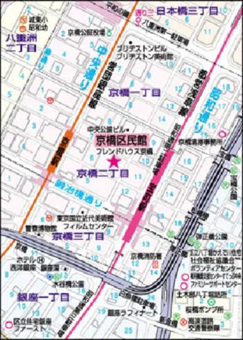 京橋区民館の地図